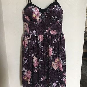Velvet floral minidress, size XS, great condition